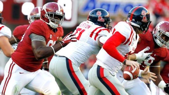Alabama defensive tackle A'Shawn Robinson is on the Lombardi Award watch list.