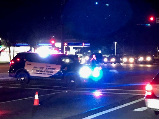 Police blocked  Madera Road in Simi Valley after a