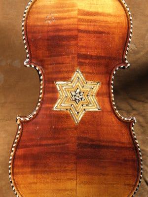 Violins of Hope: German Violin with Star, back