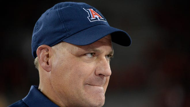 Former Arizona Wildcats head coach Rich Rodriguez talked about adversity in a speech on Monday.
