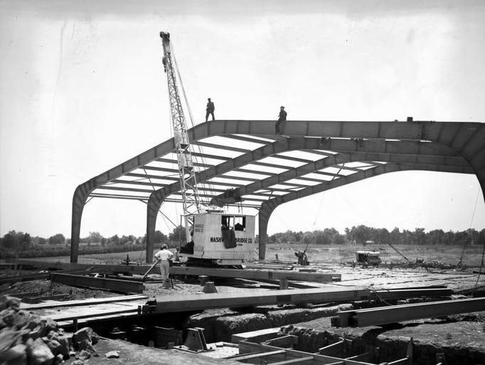BNA 1930s: BNA under construction 1936.