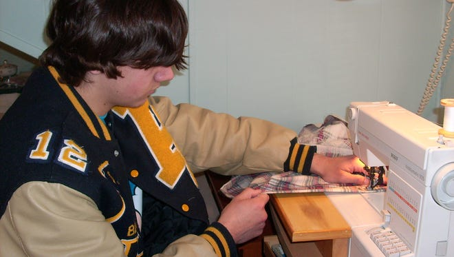 Care Bag Movement founder Ian Sass at the first Sew-A-Thon in 2011.