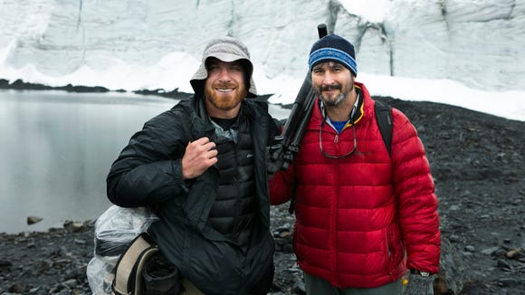 Arizona Republic environmental reporter Brandon Loomis (right) and yours truly at 16,500 feet above sea level at the base of the Pastoruri Glacier in the Cordillera Blanca in Peru.