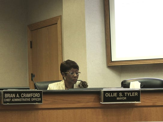 A city councilman is asking Mayor Ollie Tyler to remove