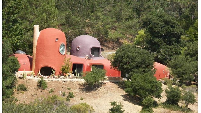 Yaba daba doo! California's well-known 'Flintstone House' is now on the market.   The 2,370 square foot home sits on a hilltop overlooking Interstate 280 just outside of San Francisco. The 39-year-old, three bedroom, two bathroom home is on the market for $4.2 million dollars.
