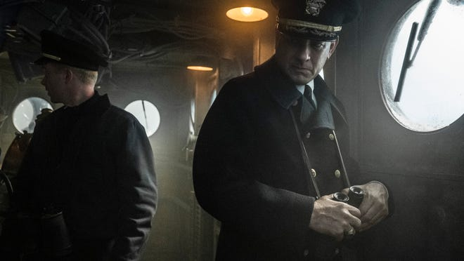Captain Krause (Tom Hanks) has a moment of indecision while under attack.