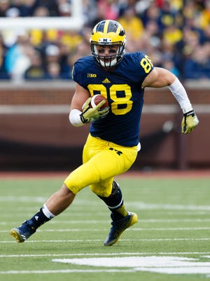 Michigan Wolverines tight end Jake Butt.
