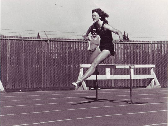 Cindy Greiner ran track and field in Wilmot.