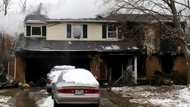 A man was found dead by the Springfield Township Fire Department after his home caught fire on Timbermill Court in Springfield Township Monday February 15, 2016.