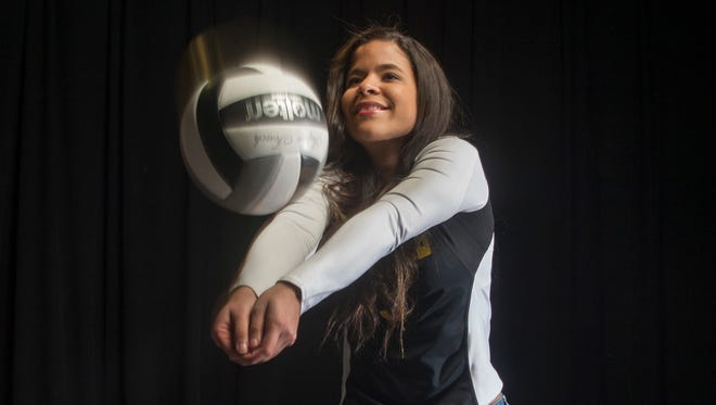 All Shore Girls Volleyball Player of the Year Gaby Merced, Saint John Vianney.