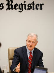 John Norris, Democratic candidate for governor, talks