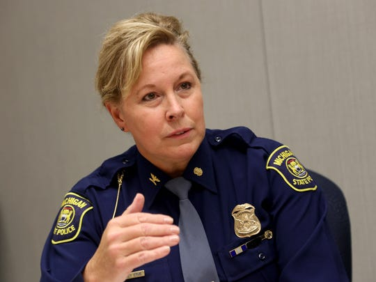 Michigan State Police Director, Colonel Kriste Kibbey Etue, photographed on March 16, 2016.