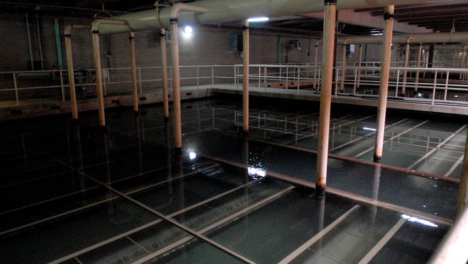 Water is filtered through sand and anthracite coal in this gallery in the Filter Gallery at The Louisville Water Co.'s BE Payne Treatment Plant on River Road.  Feb. 06, 2015