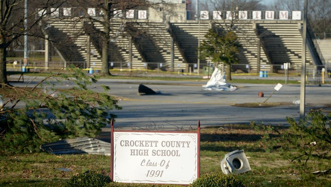 Crockett County High School canceled classes Wednesday after a tornado caused damage Tuesday evening. The high school and middle school will be closed to students for the rest of this week.