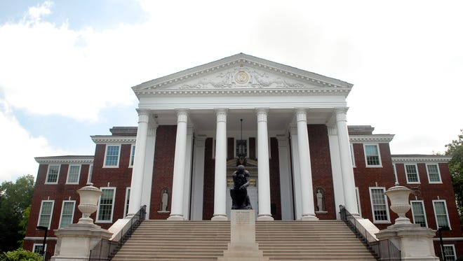 Grawemeyer Hall houses President John Ramsey's office.  The University of Louisville's campus was quiet after Ramsey offered to step down as President of the university.  June 17, 2016