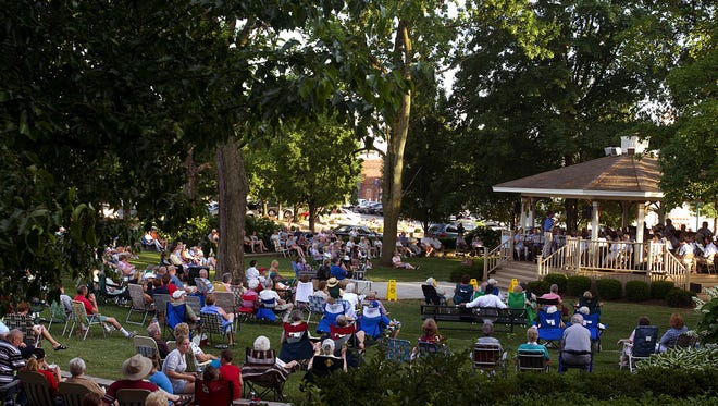 Friday night concerts in Warder Park, Jeffersonville.
