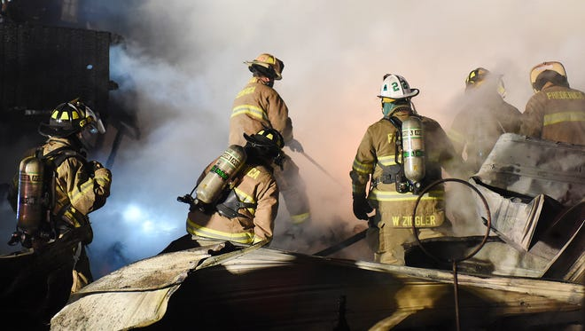 Several Fire Companies from Sussex and Kent County responded to 3 structures on fire in Slaughter Beach on Bay Avenue