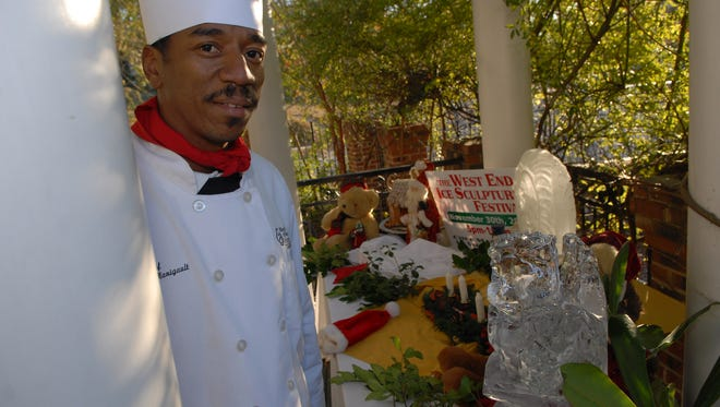 Kenneth Manigault, owner of Chef Manigault restaurant, in November 2008.