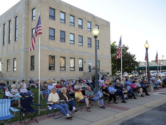 Area residents enjoy Friday Night on the Square in Mountain Home last year. Large turnouts are not the norm for the weekly downtown summer event.