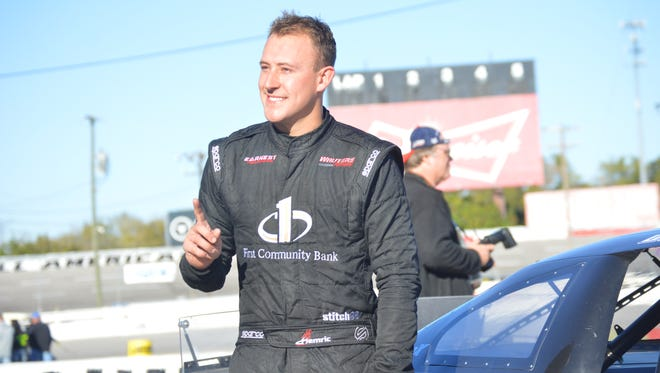 Daniel Hemric won the 300-lap All American 400 late-model race at Fairgrounds Speedway on Sunday.