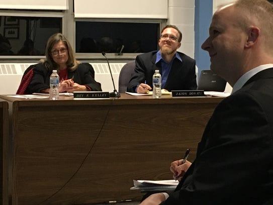 Bev Kelley attends her last Muncie school board meeting.