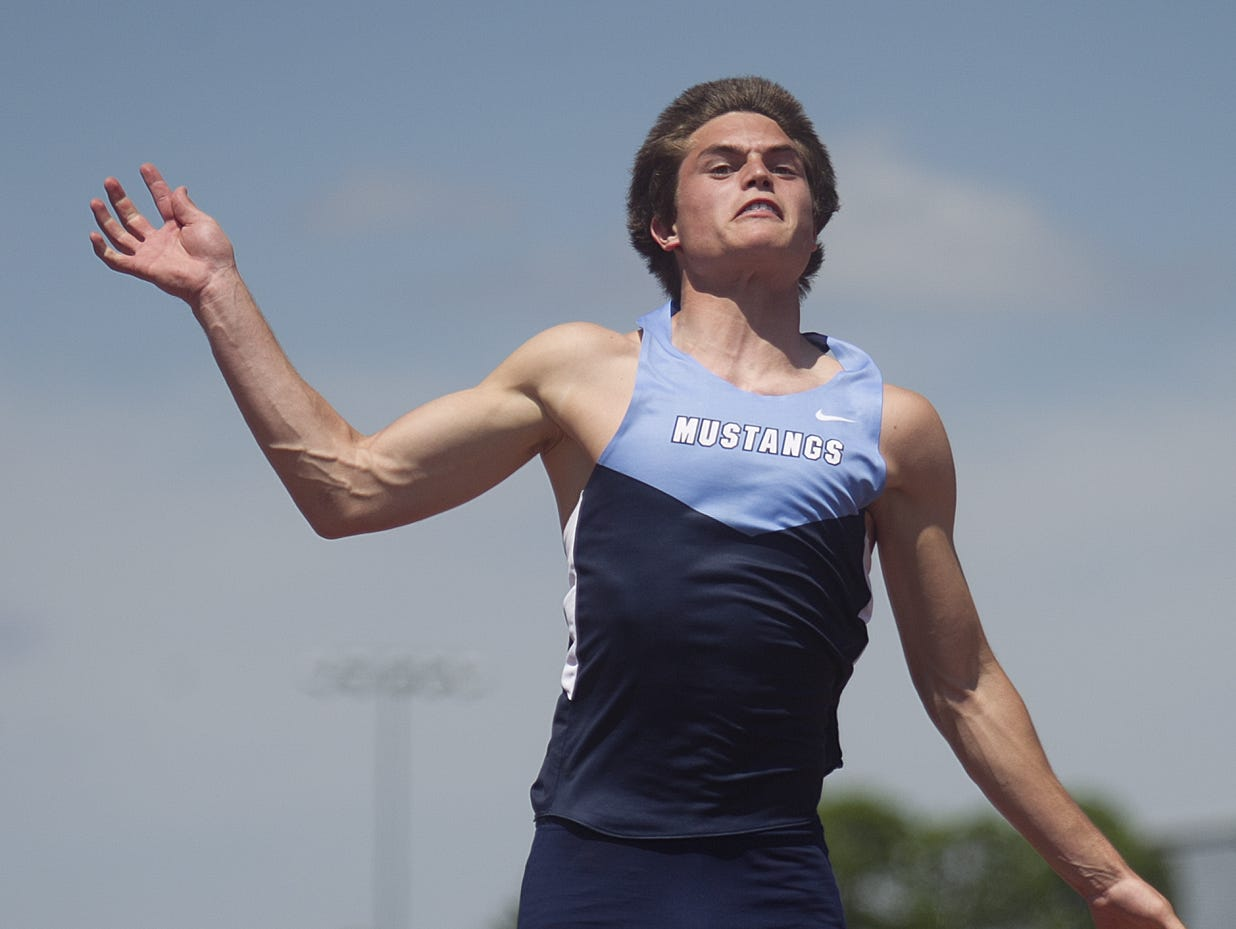 FOR APPLETON: Little Chute's Scott Hietpas competes in the long jump at the WIAA State Track and Field Meet Division 2 competition at University of Wisconsin-La Crosse, Saturday, June 6, 2015.