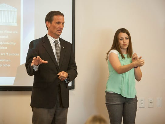 Congressman Chris Stewart meets with members of the