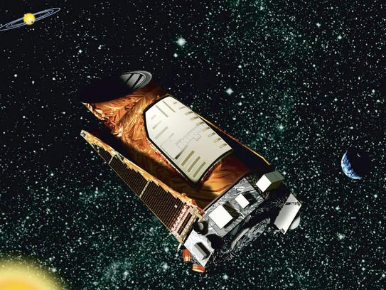 An artist's rendering of the Kepler space telescope.