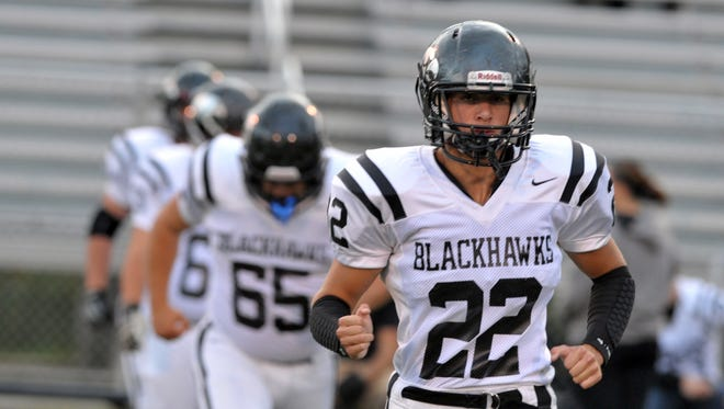 Grant Davis (22) and North Buncombe are 7-1 after Friday's 32-14 win at Roberson.