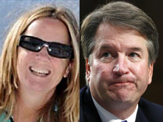 A tentative agreement was reached Saturday for the Senate Judiciary Committee to hear testimony Thursday from Christine Blasey Ford, left, and Supreme Court nominee Brett Kavanaugh, according to two people briefed on the matter.