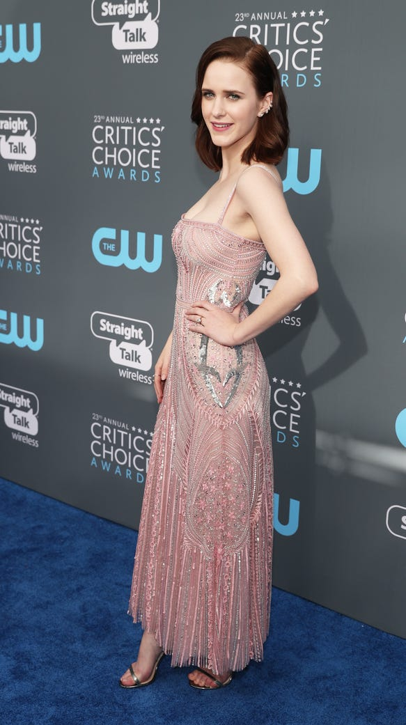 Rachel Brosnahan ditched black for the Critics' Choice