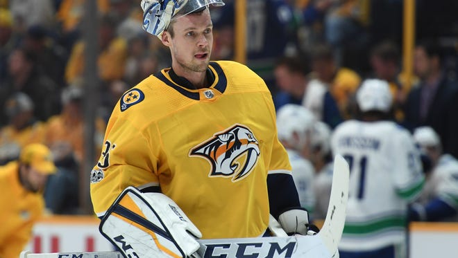 Goaltender Pekka Rinne has started 21 of the Predators' 26 games this season.