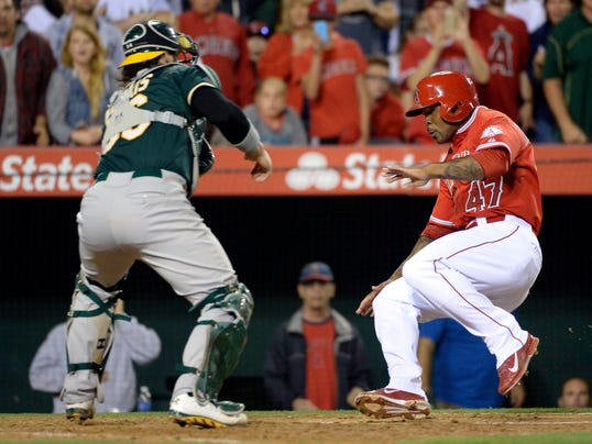 USP MLB_ Oakland Athletics at Los Angeles Angels