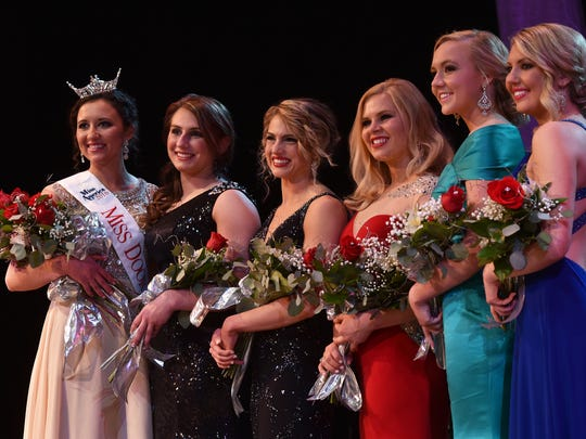 Contestants for the 2016 Miss Door County Scholarship Pageant were winner Hope Copiskey, from left, Ashley Kinnard-Carstens, Hannah Hargis, Susan Fochs, Abbigayle Grosbeier and Jenna Forbes.