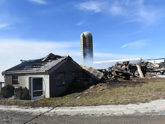 A barn at 2376 Loudon Road, St. Thomas burned to the