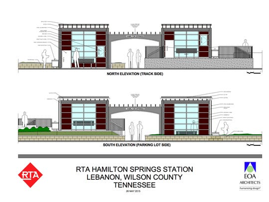 Rendering of the Hamilton Springs train station.