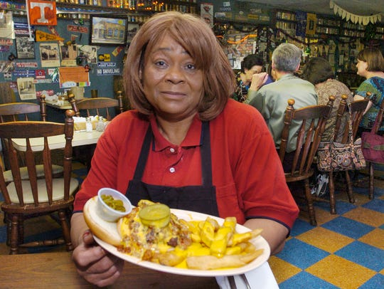 Inez Odom Birthfield started working at CS's Restaurant