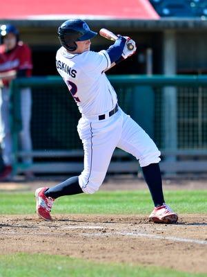 Rhys Hoskins, 1B,  April 11, 2015,  Lakewood BlueClaws, Philadelphia Phillies v Kannapolis Intimadators, White sox, FirstEnergy Park, Lakewood, NJ