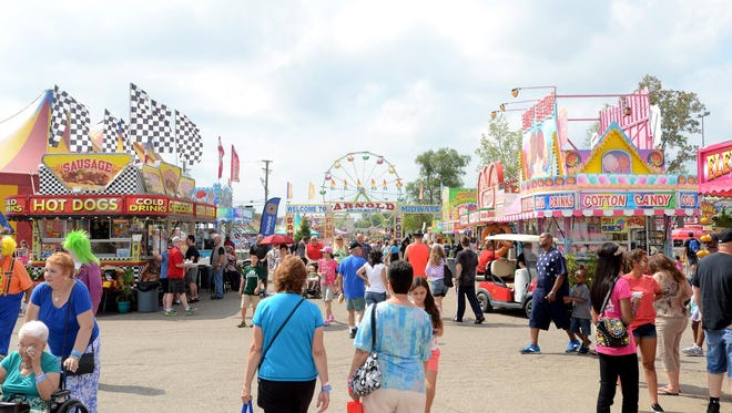 Expect 50 carnival rides at the Michigan State Fair this year. Last year, the midway was expanded.