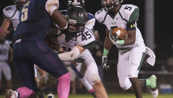 A junior running back, Quran Dozier leads West Deptford in rushing yards and touchdowns.