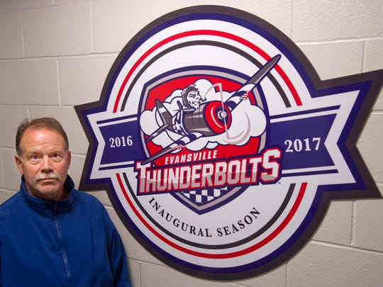 Evansville Thunderbolts head coach Jeff Pyle.