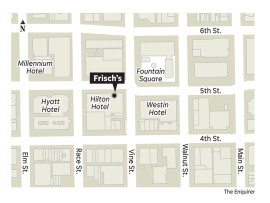 A map of the new Frisch's location.