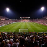 General view during the game between the United Sates and Mexico at Columbus Crew Stadium. United States won 2-0.