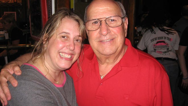 In 2007, Joe Esposito was a special guest at the Elvis International Fan Club fund-raiser for St. Jude. With him is the owner of Marlowe's restaurant, Melissa Coleman. PHOTO BY MICHAEL DONAHUE.