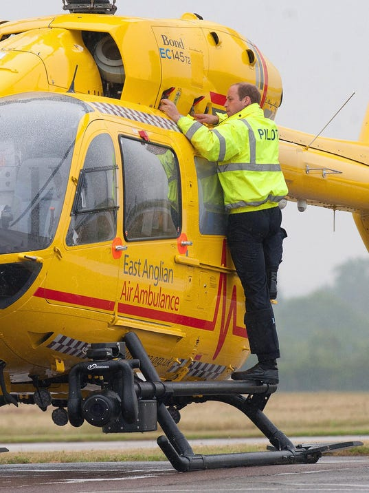 Duke of Cambridge Begins First Shift As Air Ambulance Pilot