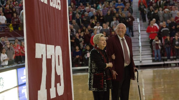 Former Aggies Coach and College Basketball Hall of Famer Lou Henson is undergoing treatment in Houston.