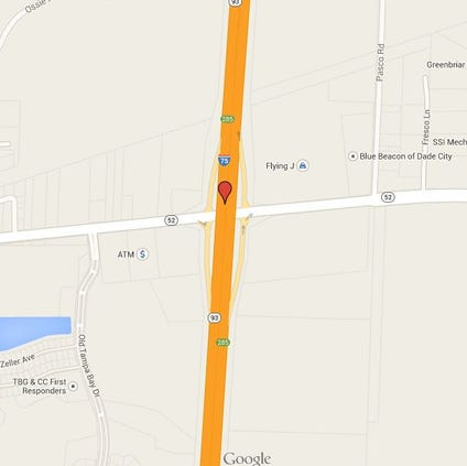 Map near the crash area