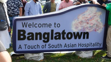 Banglatown welcome sign debuts a bit altered