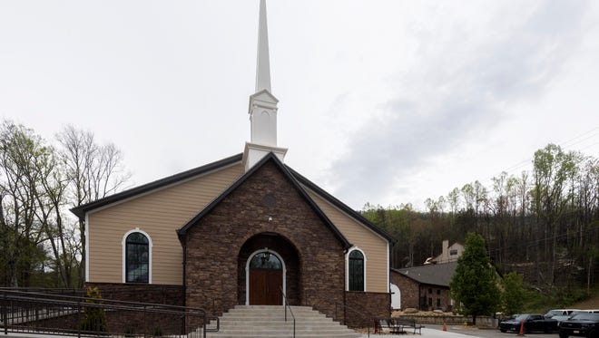 Roaring Fork Baptist Church's new worship center hosted its first service on Sunday, April 22, 2018, after the 2016 Gatlinburg fires destroyed the original 1949 building. The new sanctuary is 14,000 square feet and can seat more than 450 people.