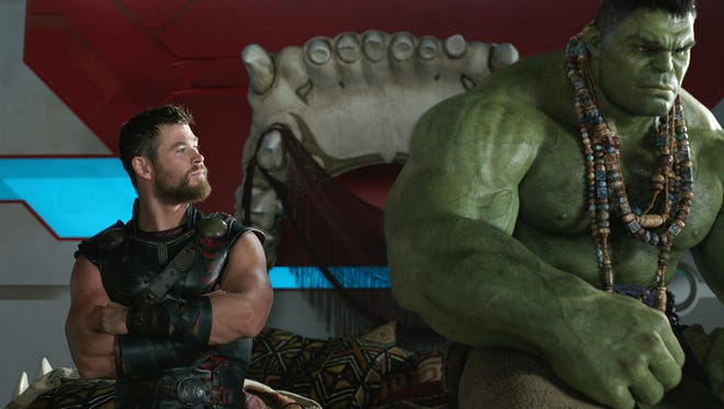 Chris Hemsworth as Thor and the Hulk team up in the final film of the 'Thor' trilogy. Our reviewer says that Marvel saved the best for last.